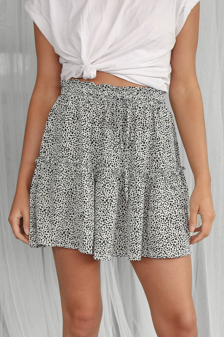 bianca mini skirt in black pebble