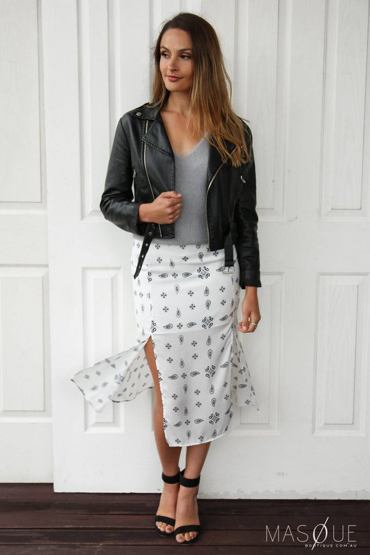 midnight sky skirt in white by the fifth