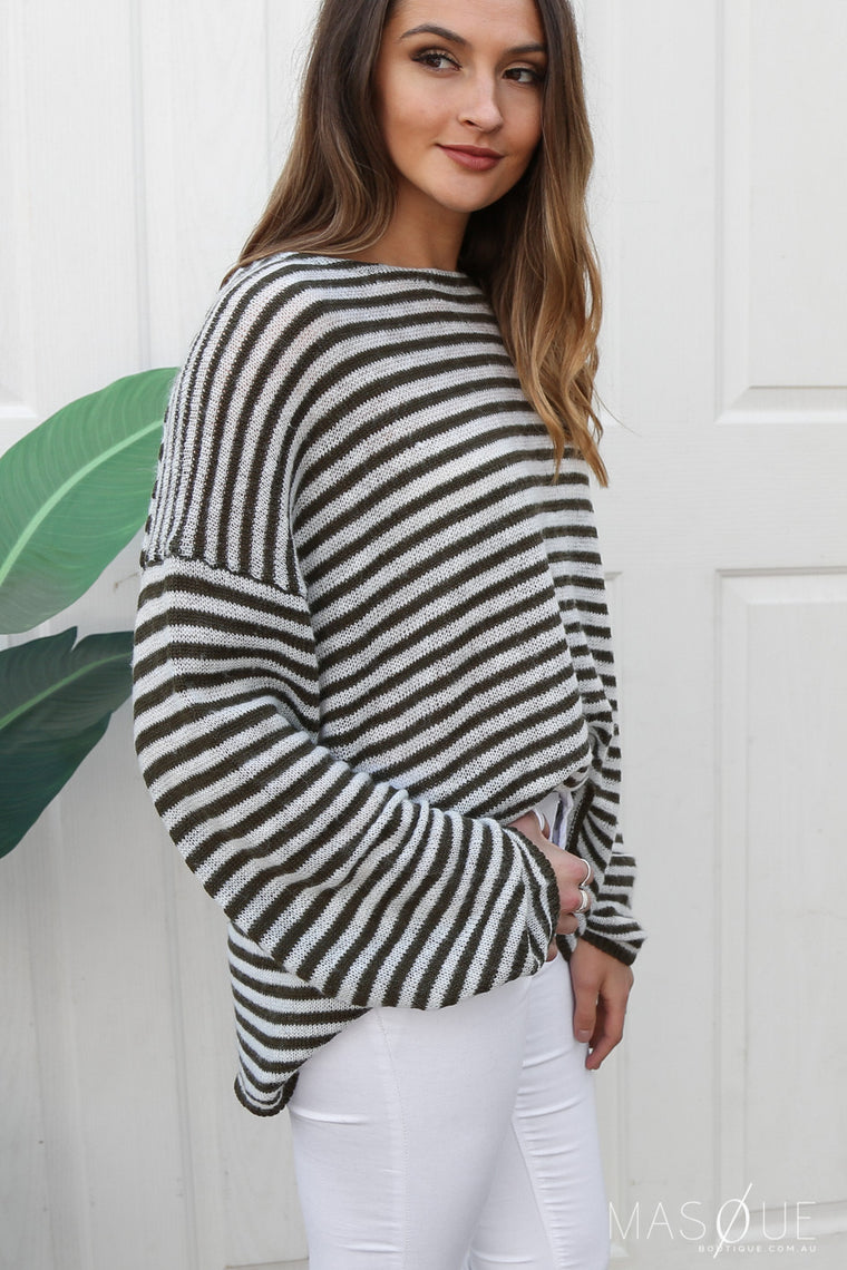 saree stripe knit top