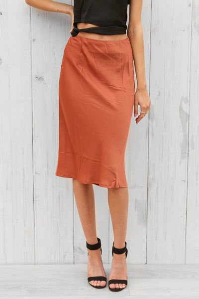 emmy skirt in rust