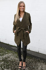 hampton coat in khaki