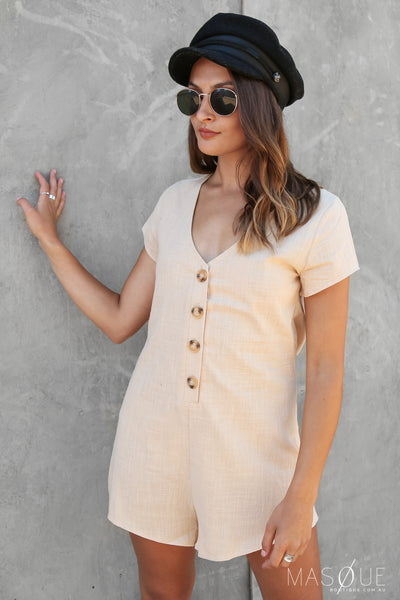 poetic playsuit in natural