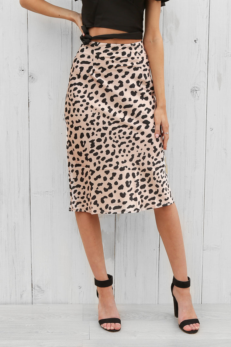 emmy skirt in leopard