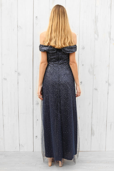 solace gown in navy