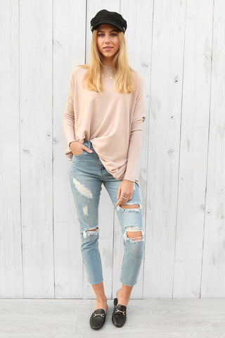 oyster jumper in blush