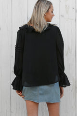 valentina top in black