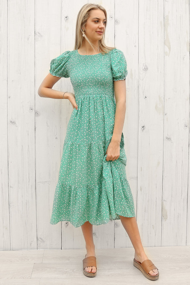 cairo dress in green