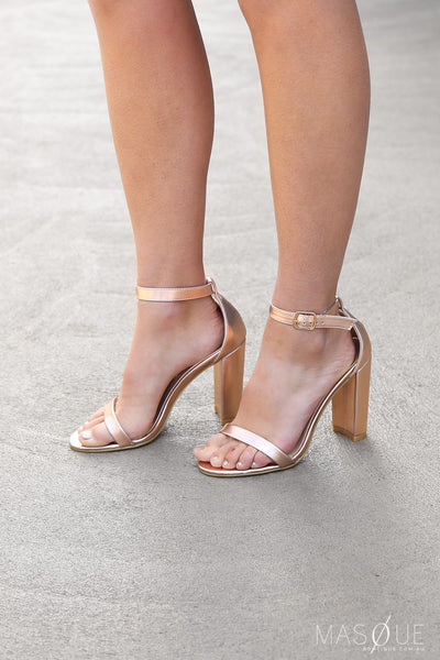 jacinta heels in rose gold
