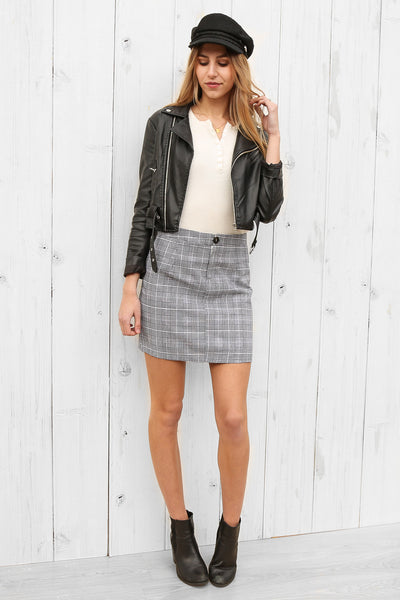 paris skirt in plaid