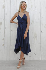 sasha midi dress in navy