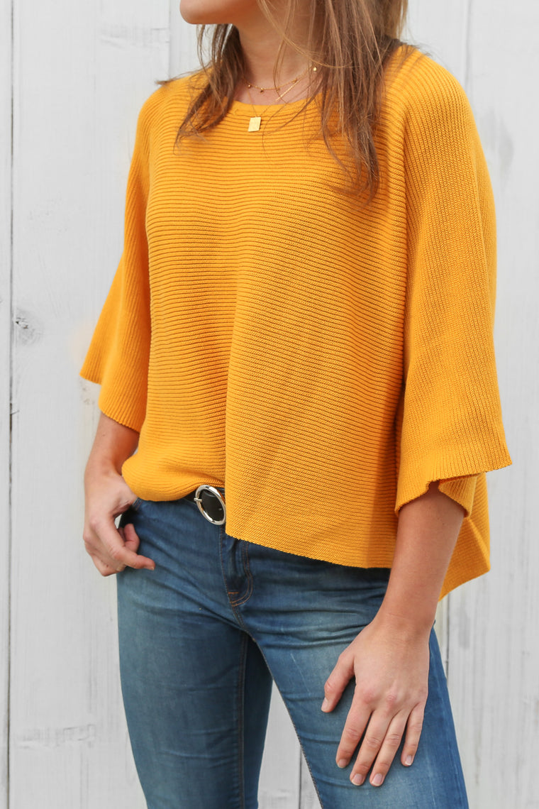 falcon jumper in mustard
