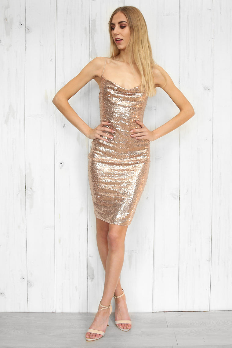 Shine sequin midi dress