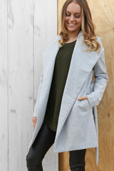 delilah coat in grey