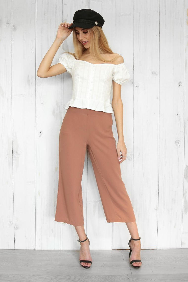 Michelle culottes in dusty pink