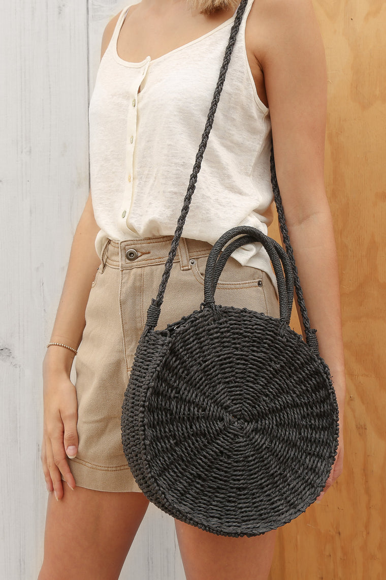 tiddles woven bag black