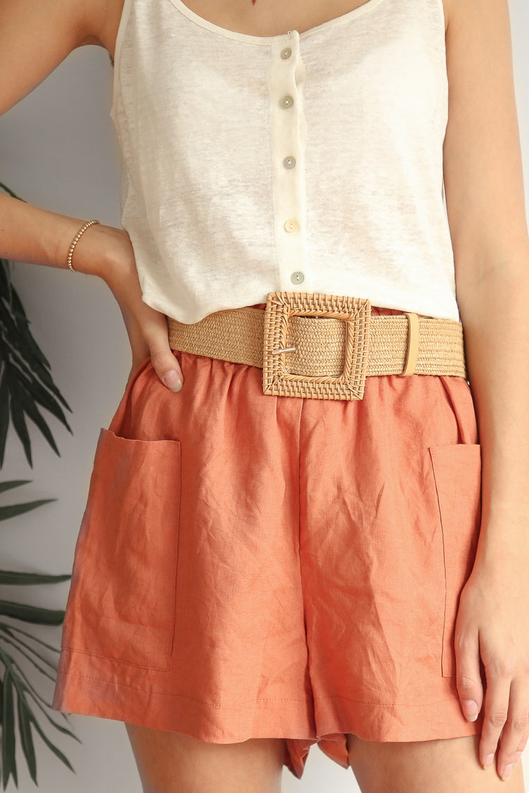 joyful woven belt - square