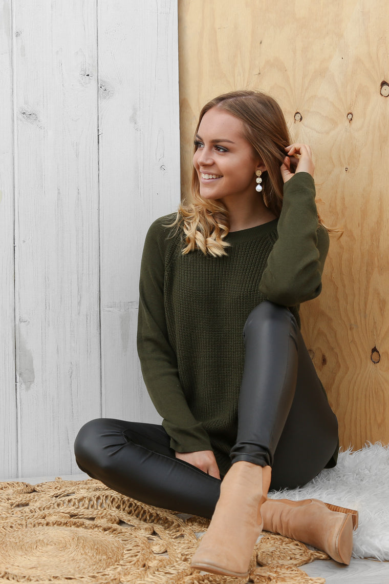 remi jumper in khaki