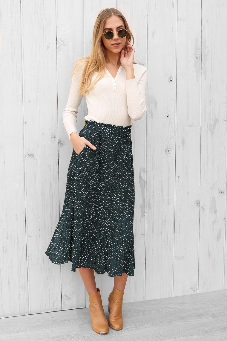 rochelle skirt in emerald