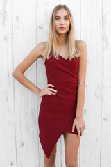 heather midi dress in wine
