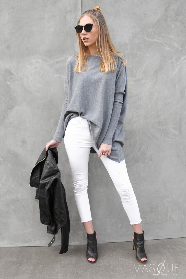 oyster jumper in charcoal