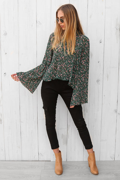 grace top in floral