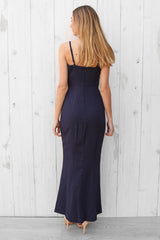 lucy split maxi in navy