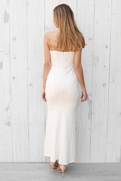 sylvana seamed maxi in white