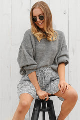 penny knit jumper in grey