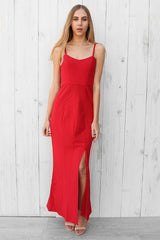 lucy split maxi in red
