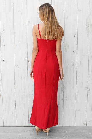 SALE- lucy split maxi in red