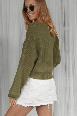 miranda knit jumper in khaki