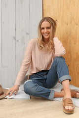 sacha jumper in baby pink