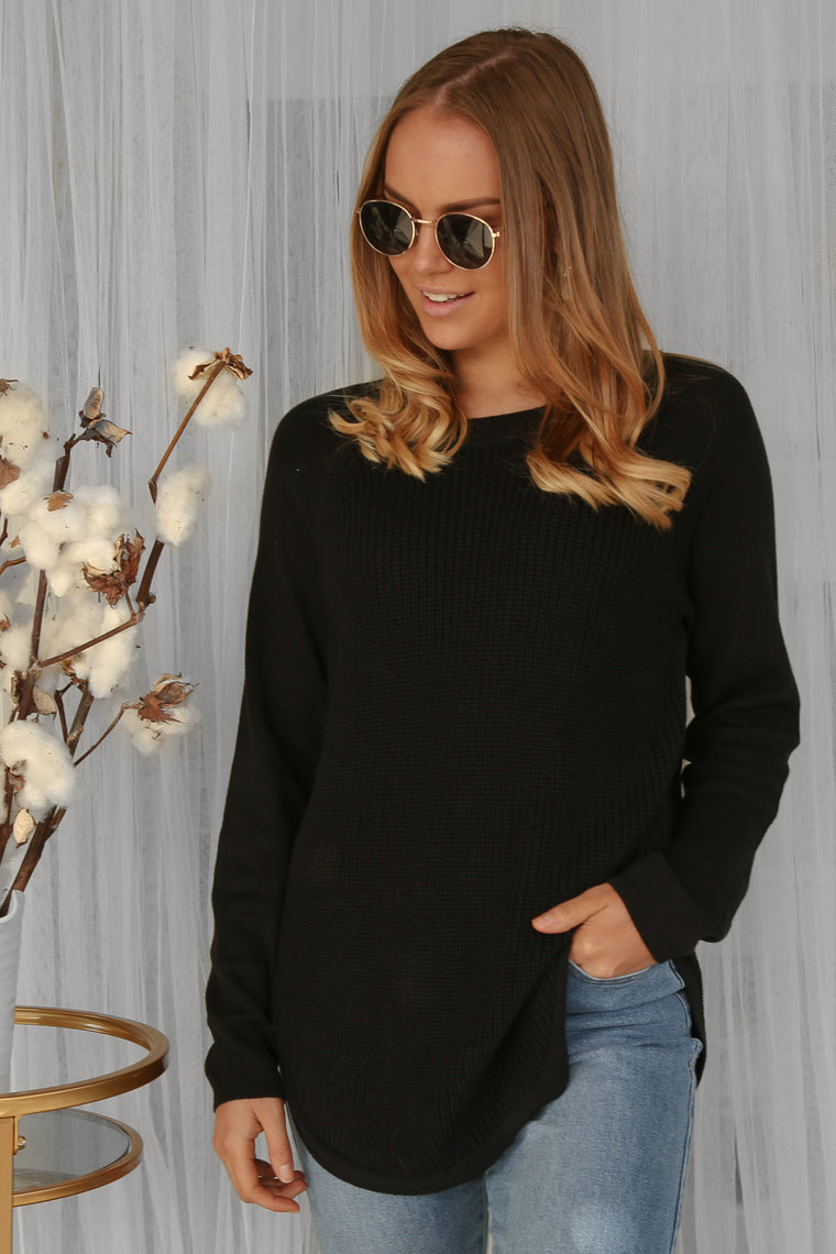 remi jumper in black