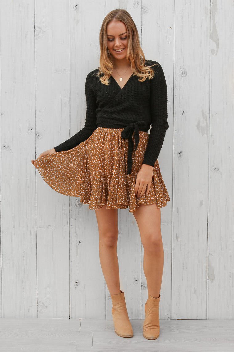 penelope mini skirt in foral