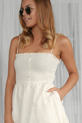 SALE- simplest midi dress in white