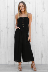 eclipse black linen jumpsuit