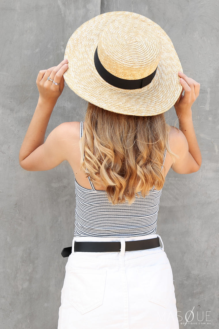sweet straw hat in black