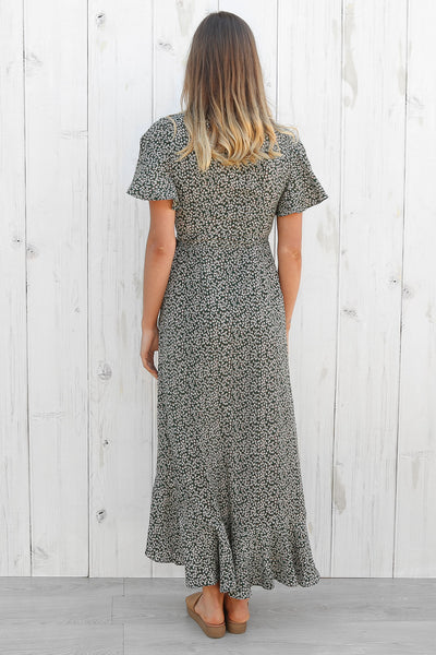 escape wrap maxi in green