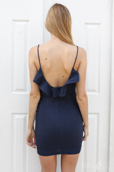 veronica mini dress in navy