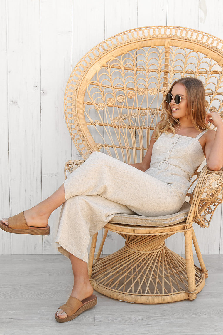 melt down linen jumpsuit