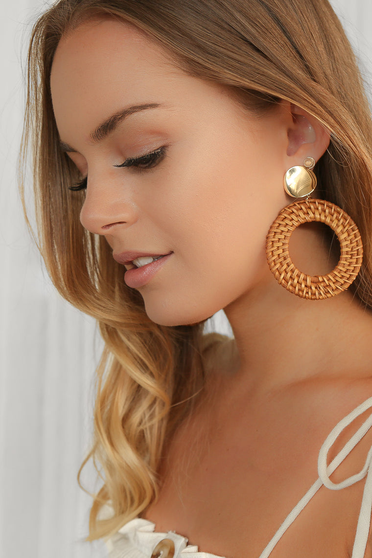 shantel round earrings
