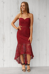 aggy lace dress in wine