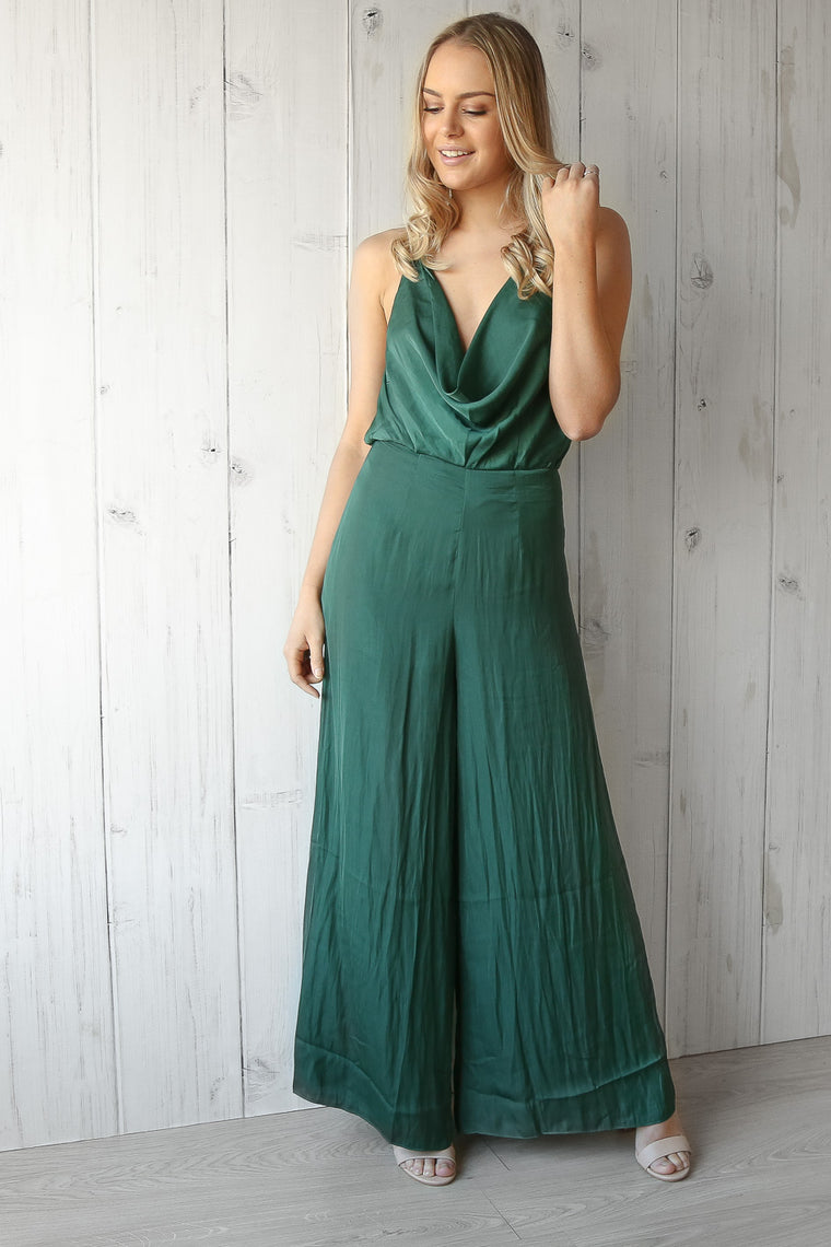 lustre jumpsuit in green