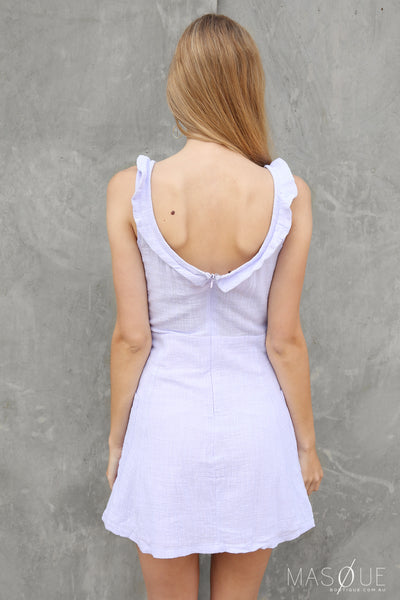 macey dress in lilac