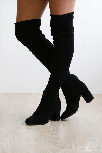 hanover boots in black by therapy