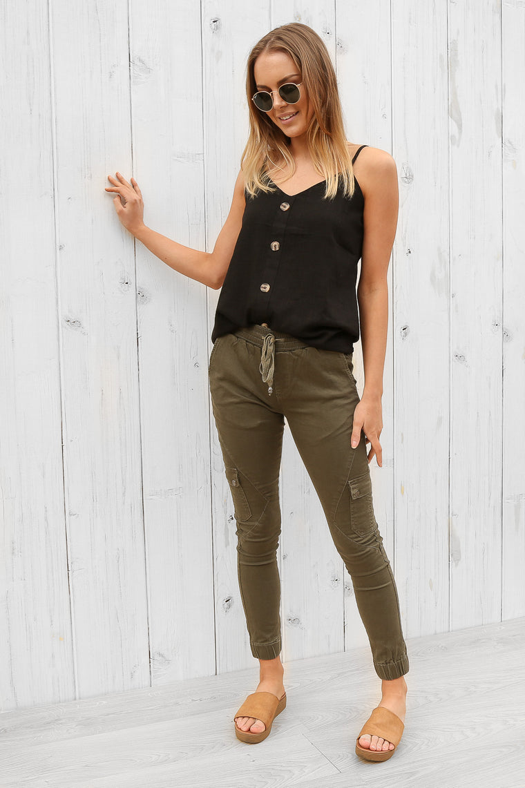 flight pants in khaki