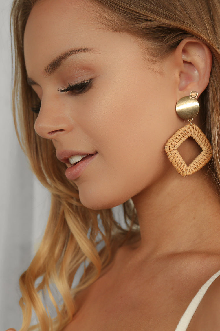 odella square earrings
