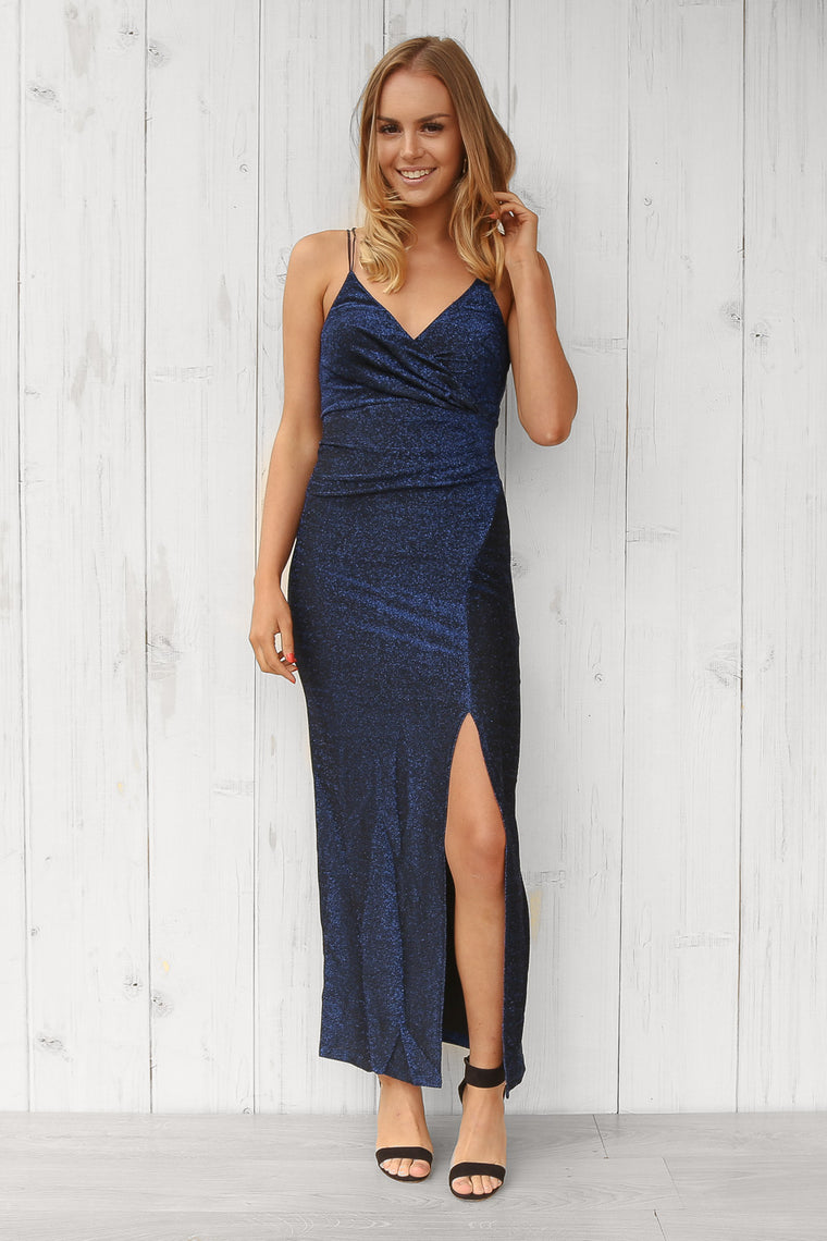 midnight midi dress