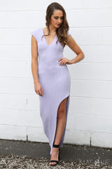 SALE - new wave split maxi in lilac