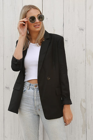 ellis blazer in black